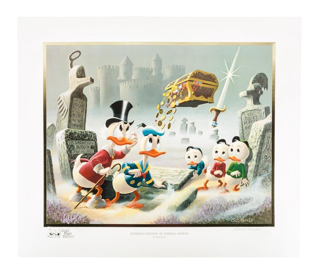 Carl Barks Donald Duck lithograph Dubious Doings