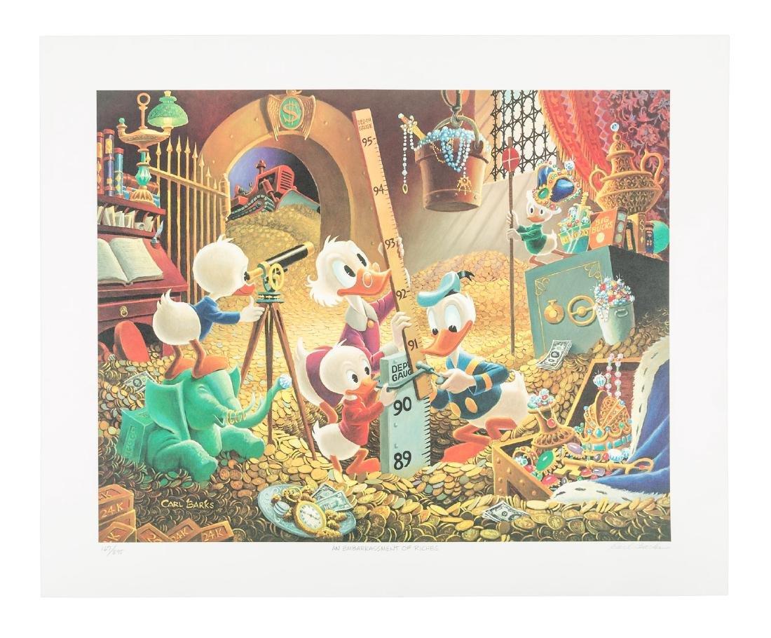 Carl Barks Donald Duck lithograph Embarrassment of