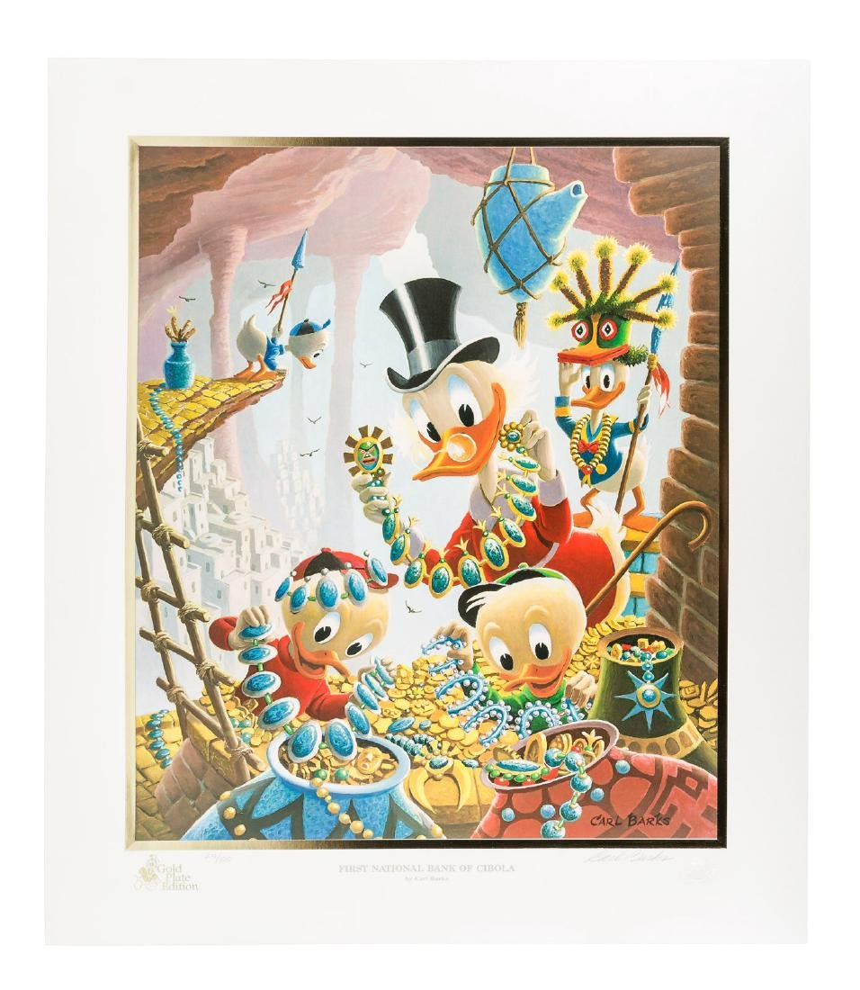 Carl Barks Donald Duck lithograph 1st National Bank of