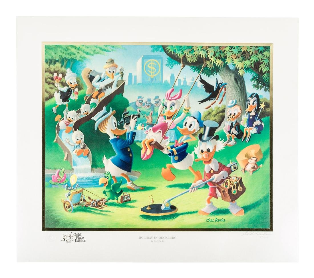 Carl Barks Donald Duck lithograph Holiday in Duckburg
