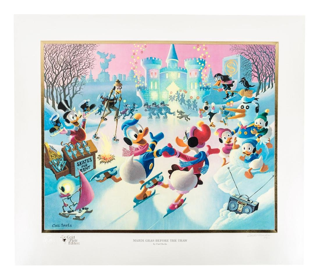Carl Barks Donald Duck lithograph Mardi Gras Before the