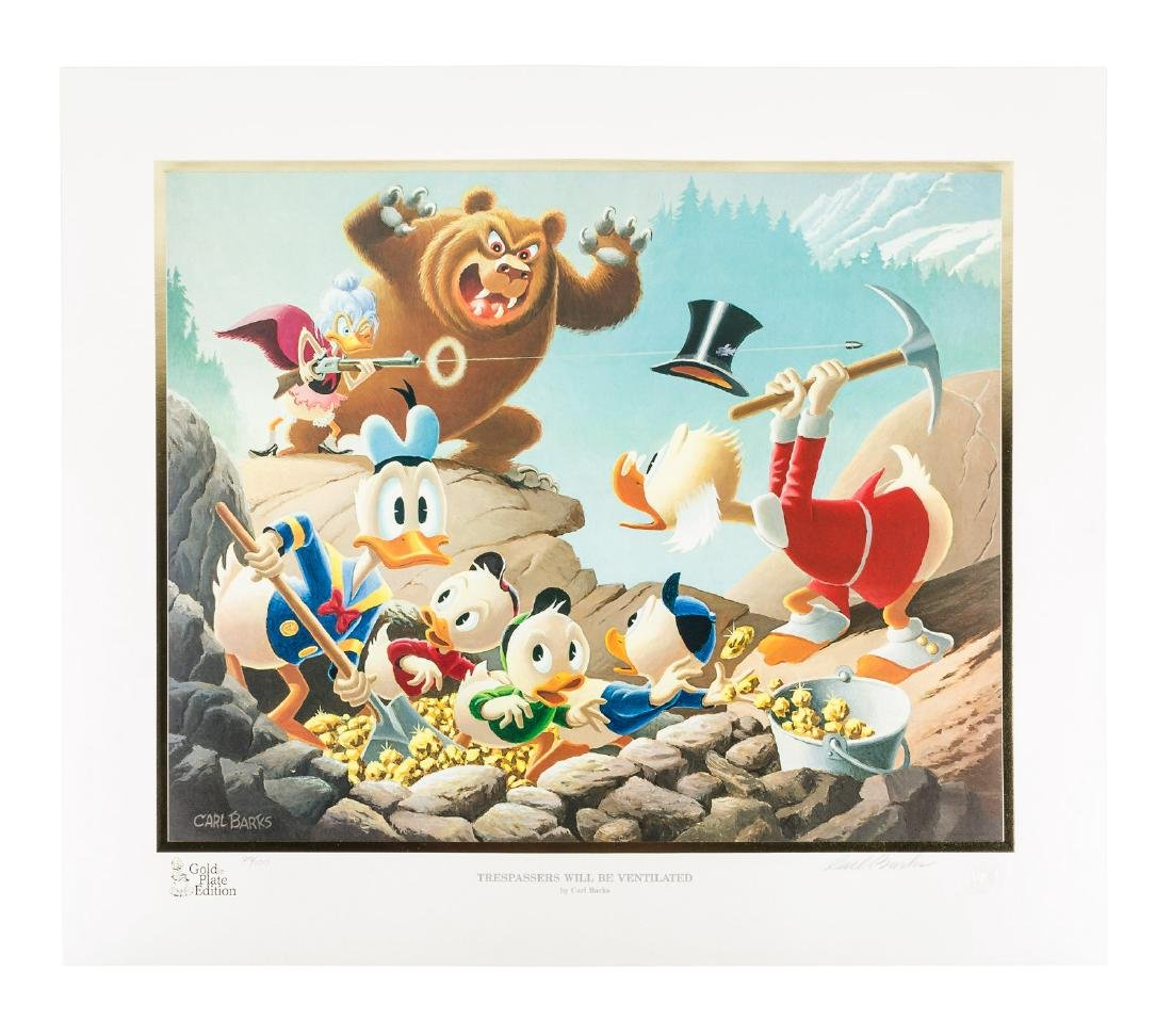 Carl Barks Donald Duck lithograph Trespassers Will Be