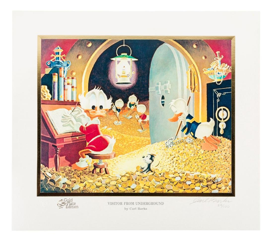 Carl Barks Donald Duck lithograph Visitor from