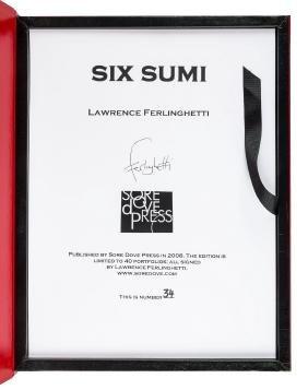 Six Sumi, 1/40 portfolios art by Ferlinghetti, sgnd