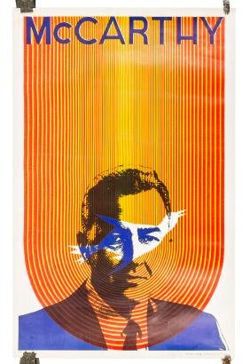 Psychedelic post of Eugene McCarthy by Satty