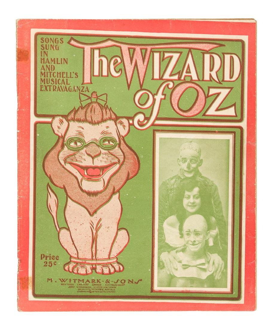 Songs from 1903 Wizard of Oz Muscial