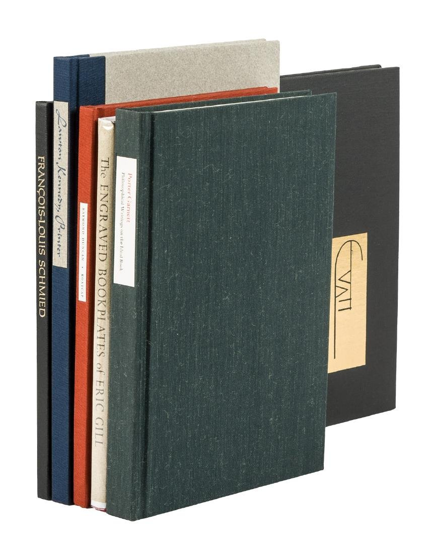Five fine press volumes on books and printing