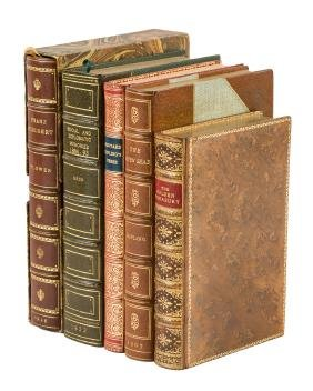 Five finely bound works