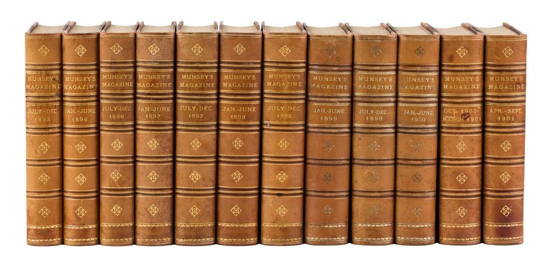 Munsey's magazine 12 bound volumes 1895-1901