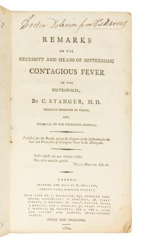 Contagious Fever in the Metropolis. 1802