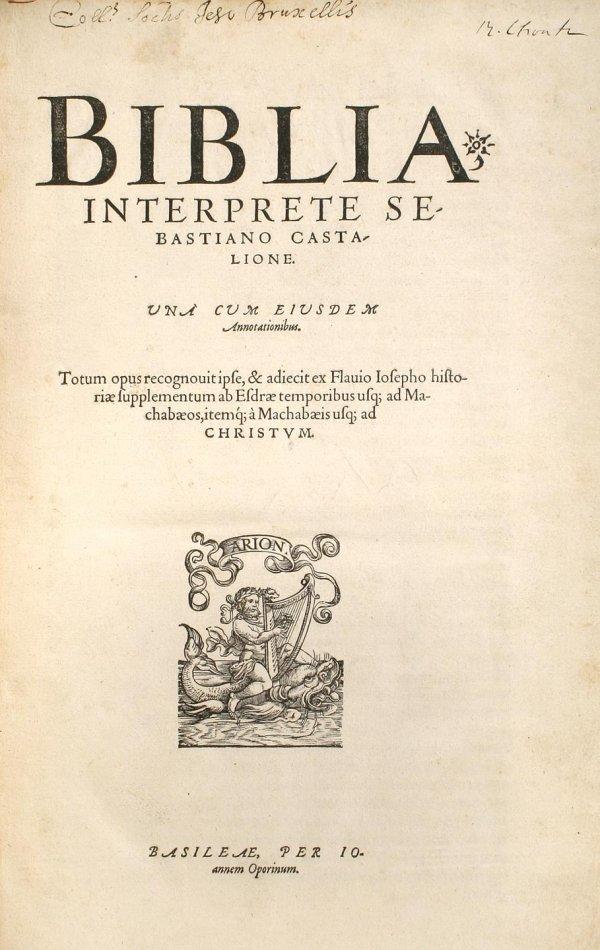19: Biblia Interprete Sebastiano Castalione