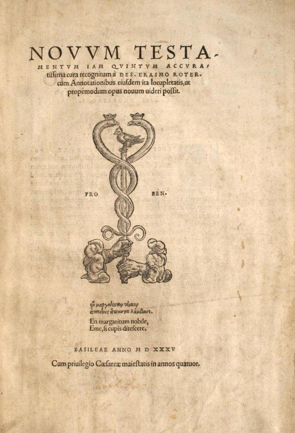 20: Novum Testamentum iam Quintum Accuratissima cura re