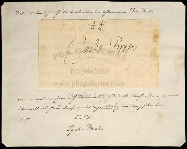 22: Fine large signature from an Album Amicorum