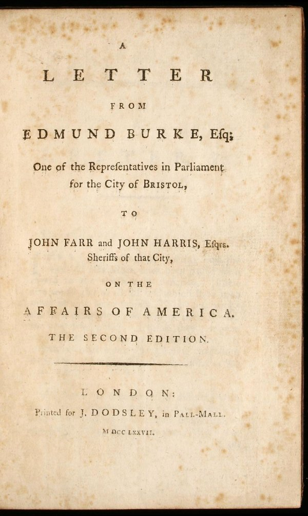 24: Two works by Edmund Burke and one by Richard Tickel
