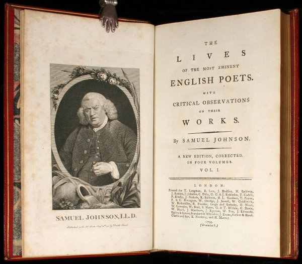 75: The Lives of the Most Eminent English Poets. With C