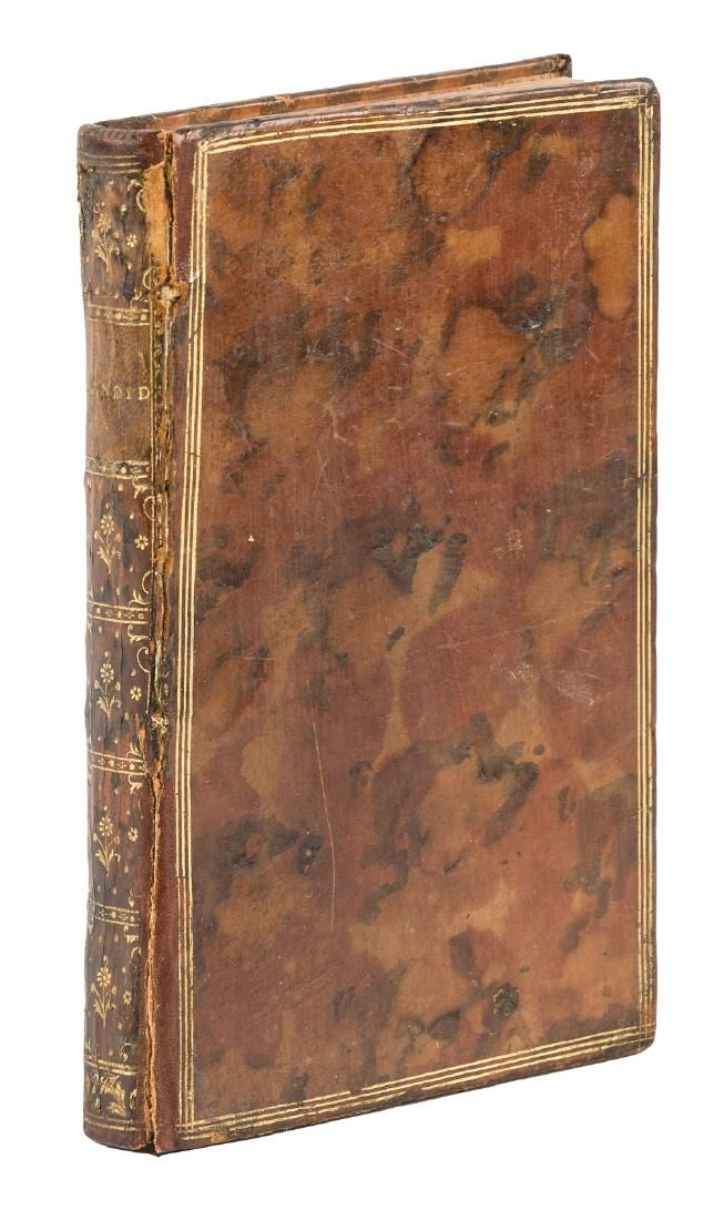 Rare first edition of Voltaire's Candide