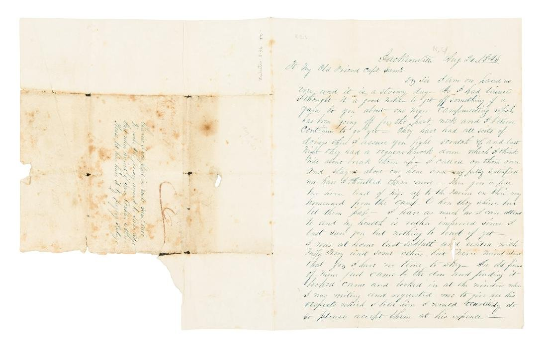 1843 Letter on Negro Camp Meeting in New York
