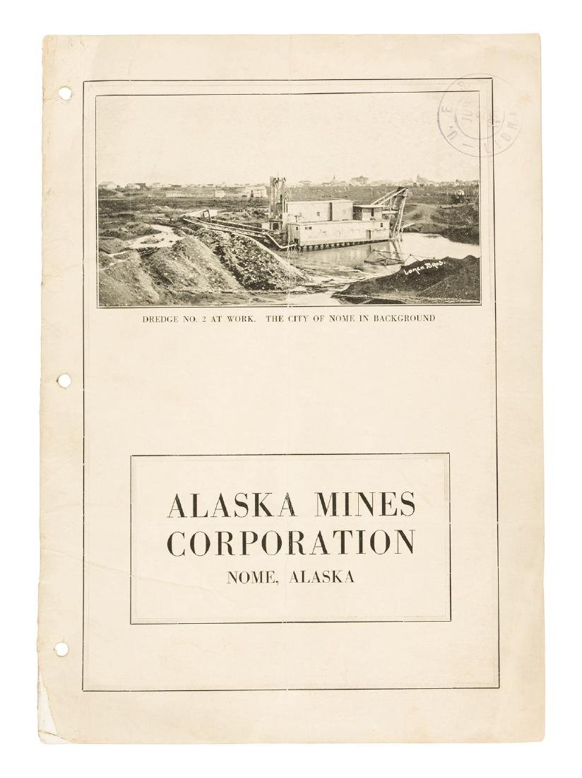 Nome Alaska mining prospectus with large map