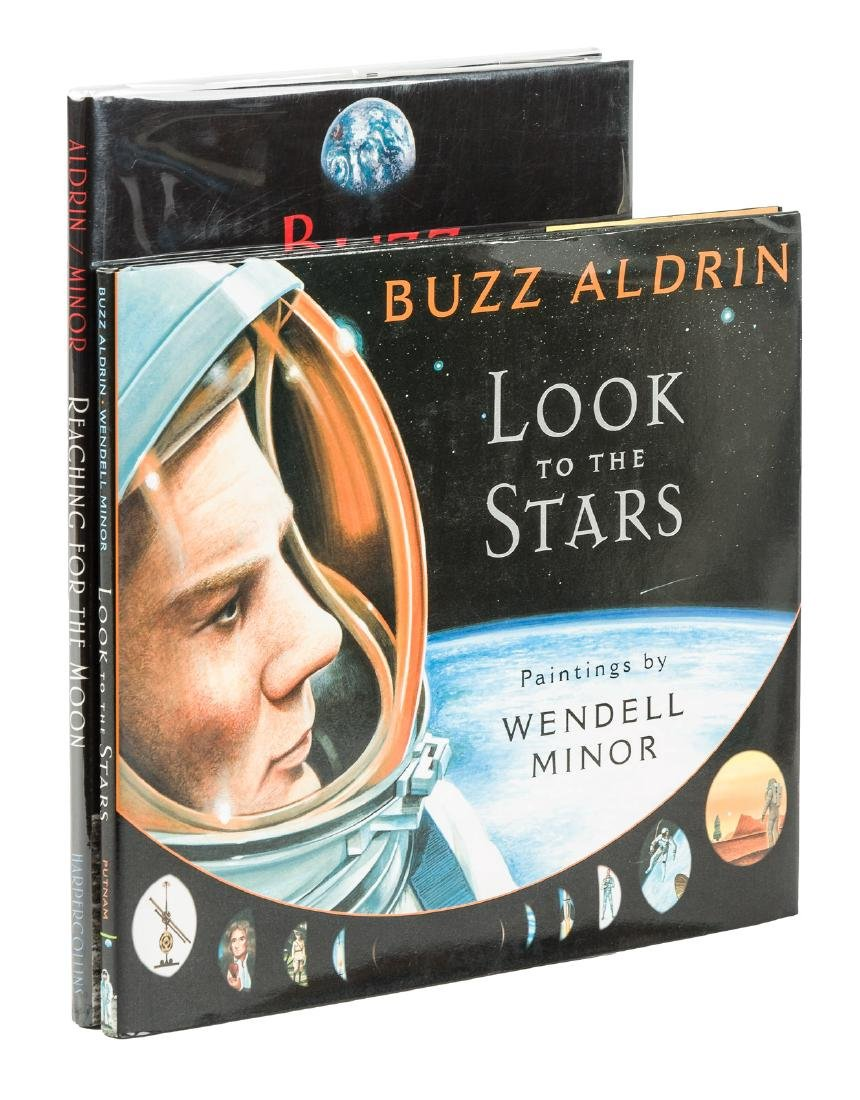 Two signed by moon astronaut Buzz Aldrin