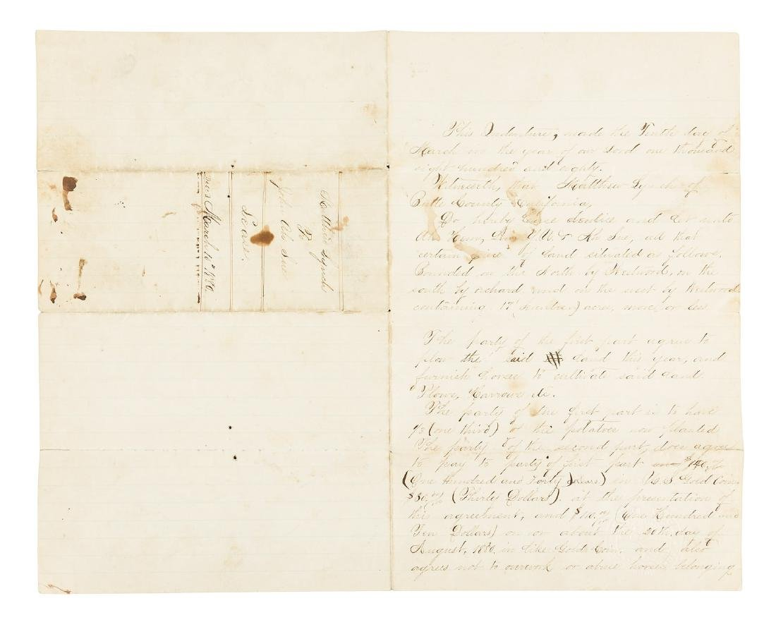 1880 Lease for Chinese Sharecroppers, Butte County,
