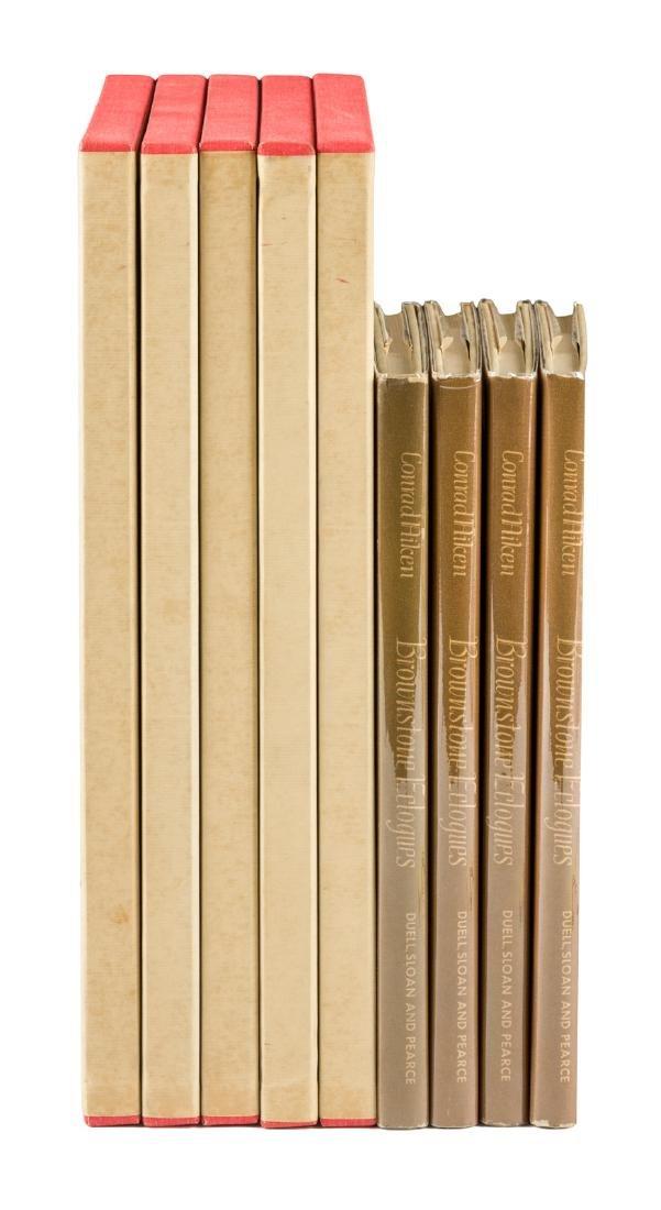 Nine volumes by Conrad Aiken