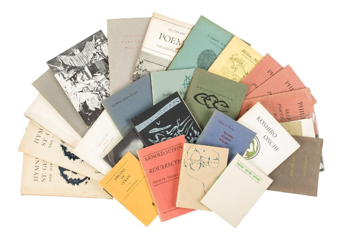 Collection of items printed by the Auerhahn Press