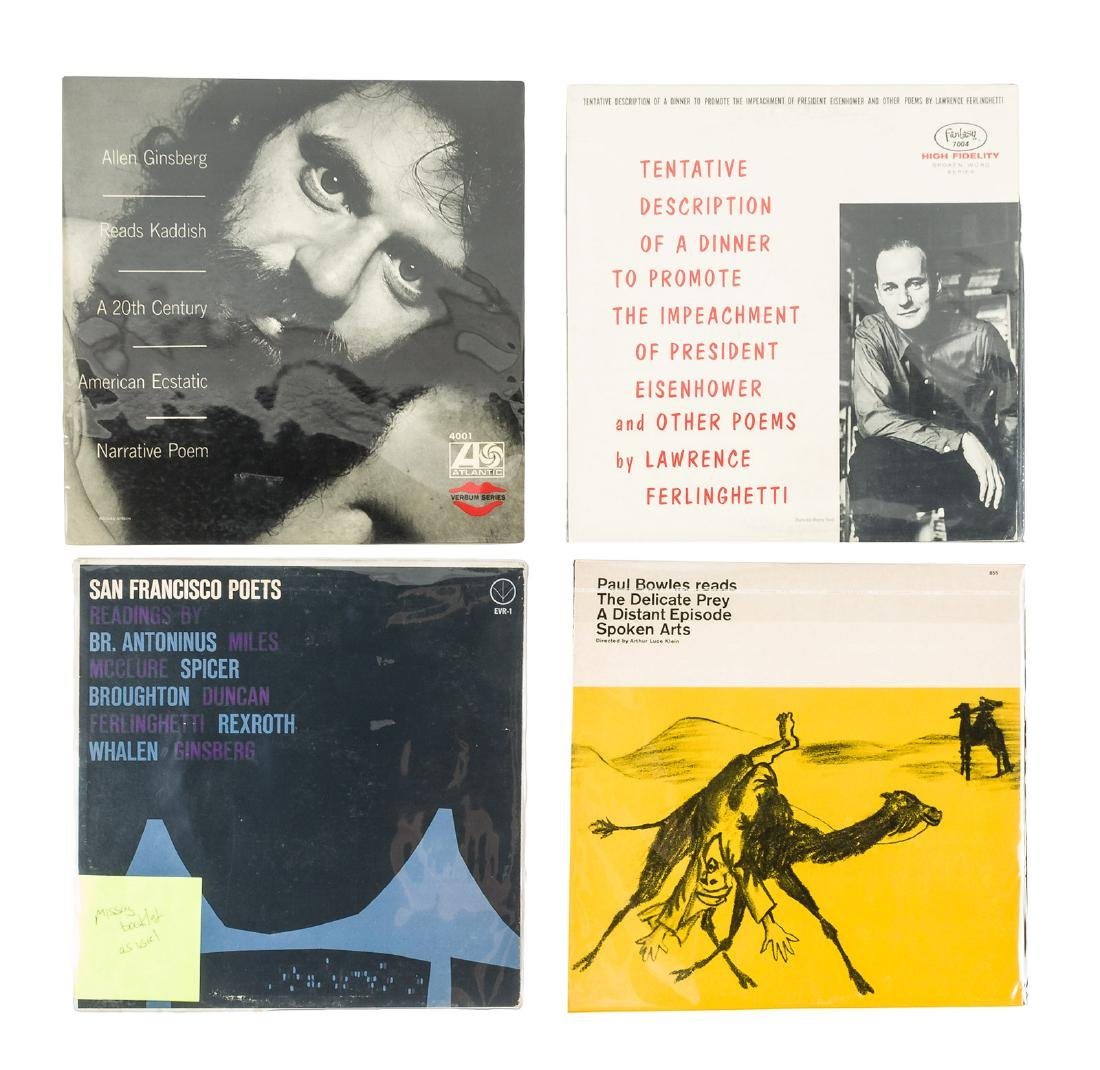 Four long playing records of Beat related literature
