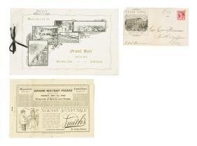Nevada City Grand Ball Dance Card 1903