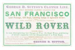 Clipper Ship Card for Wild Rover by Nesbitt