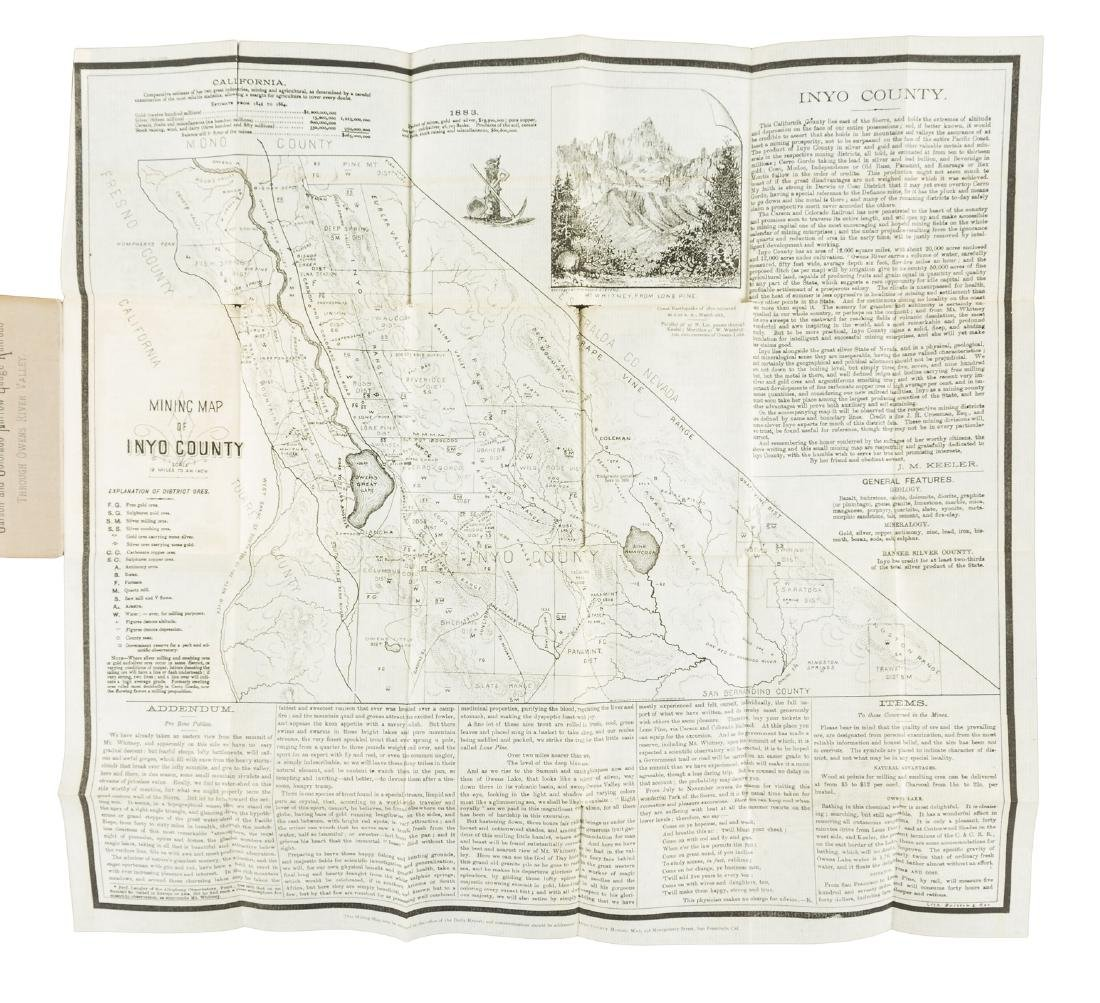 Folding map of Inyo County Cal. 1884