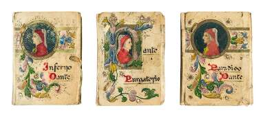 Dante in handpainted vellum bindings
