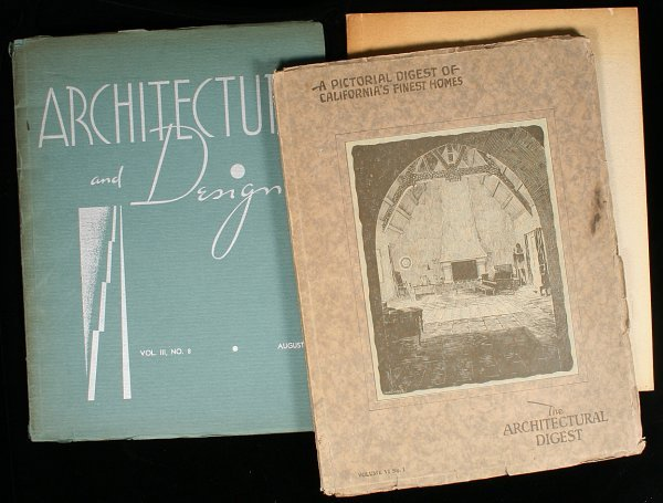 2011: One copy of The Architectural Digest, and two of
