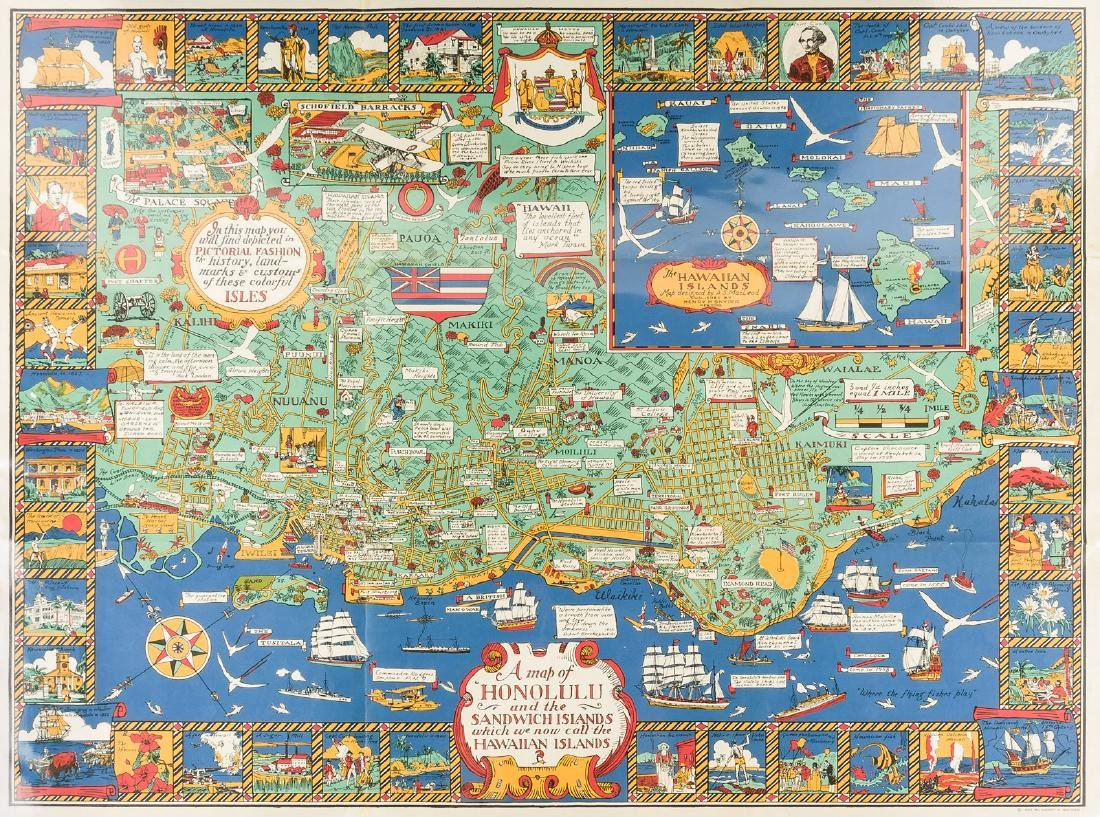 Marvelous pictorial map of Honolulu