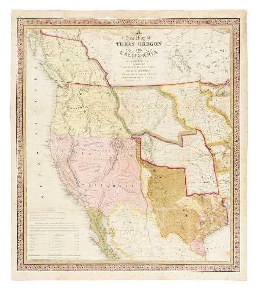 Mitchell S 1846 Map Of Texas California Oregon