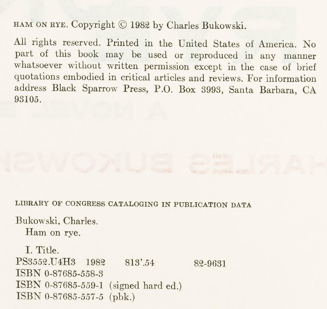 Charles Bukowski Ham on Rye Signed 1/350 - 3