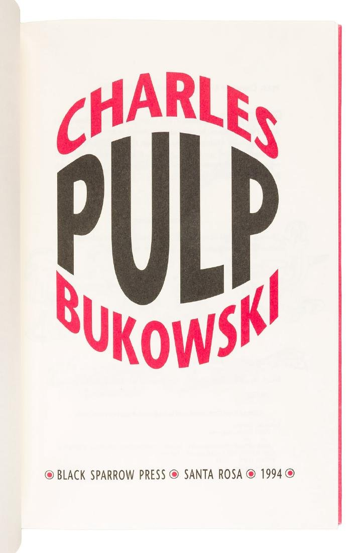 Pulp presentation copy w/signed drawing by Bukowski - 2