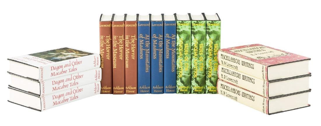 15 volumes by H.P. Lovecraft