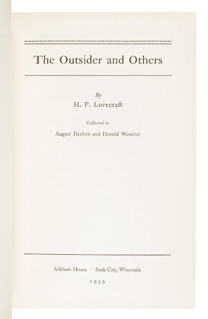H.P. Lovecraft The Outsider first Arkham House book - 3