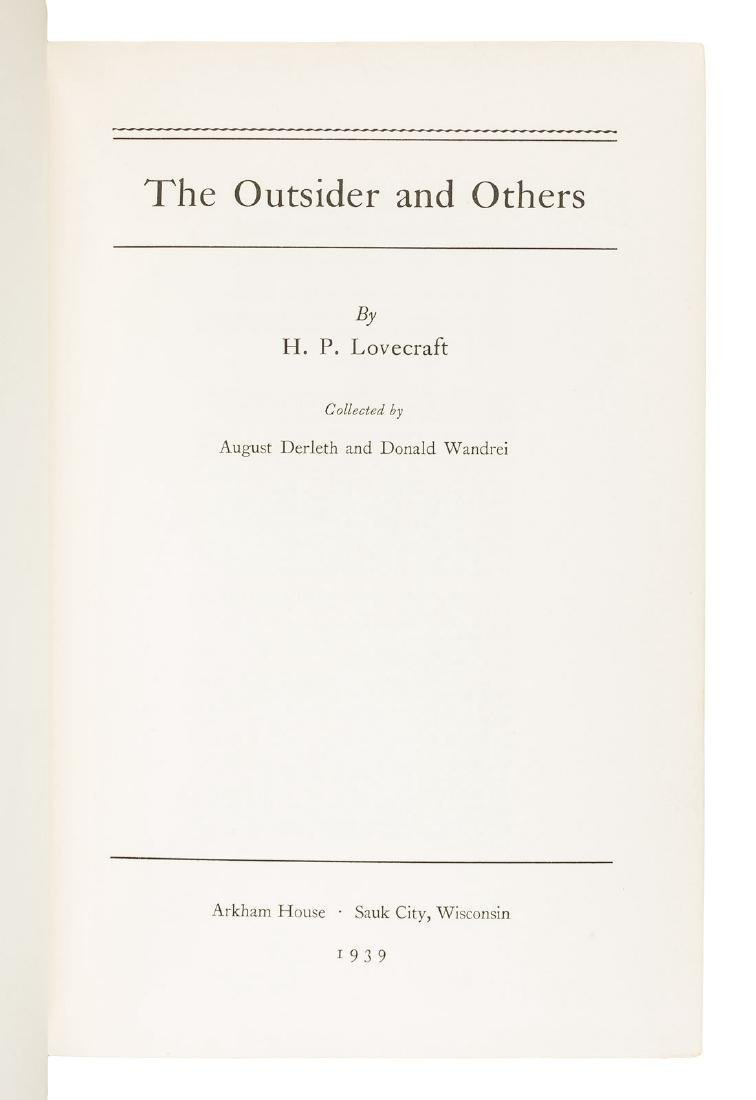 H.P. Lovecraft The Outsider first Arkham House book - 2