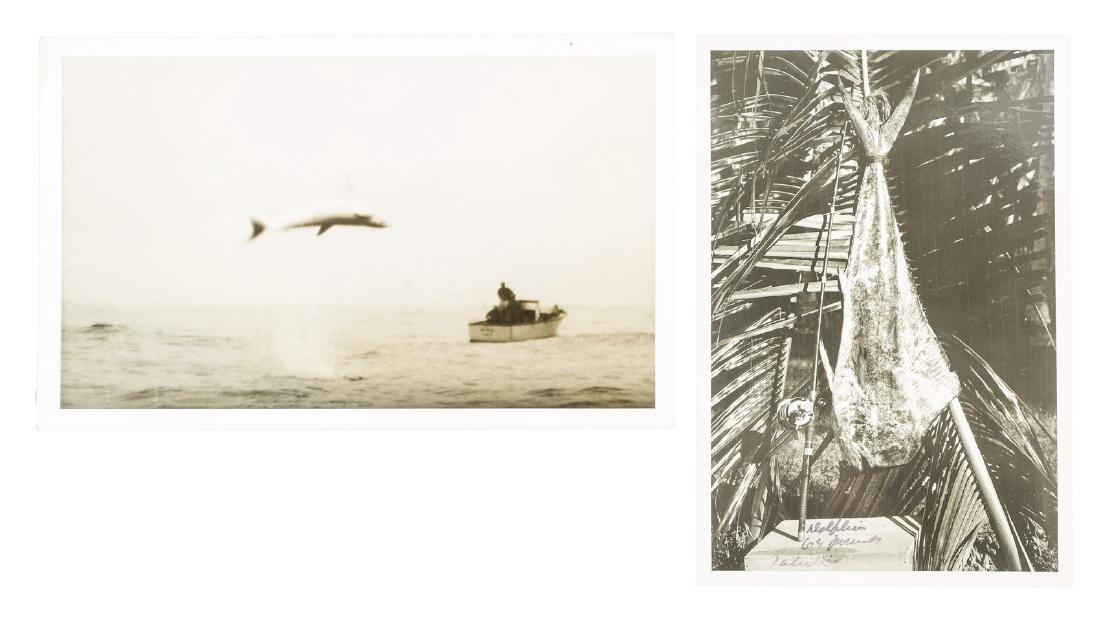 Two Zane Grey fishing photographs