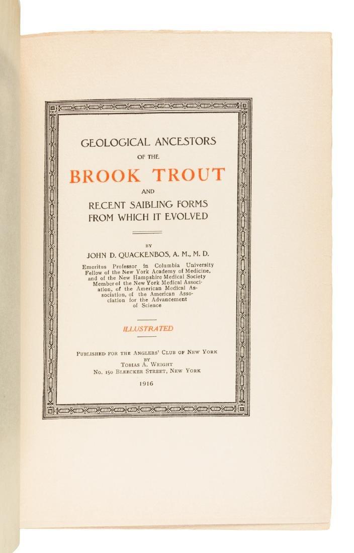Ancestors of the Brook Trout, 1/300 copies - 2
