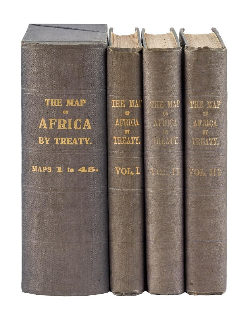 Treaty mapping of colonized Africa 1909