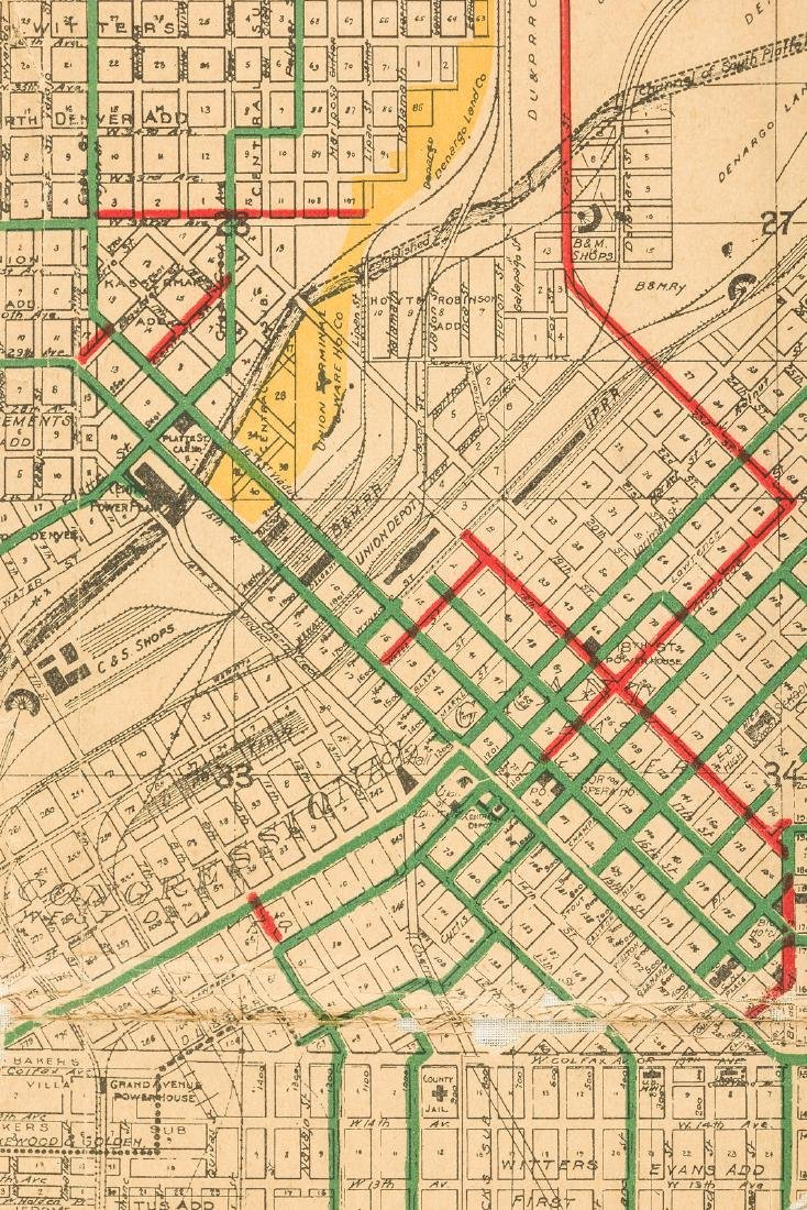 Map of the Denver tramways 1906 - 3