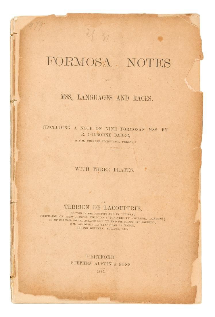 Rare Formosa volume 1887
