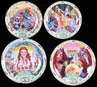 177 Lot of 8 Wizard of Oz Commemorative Plates from Th