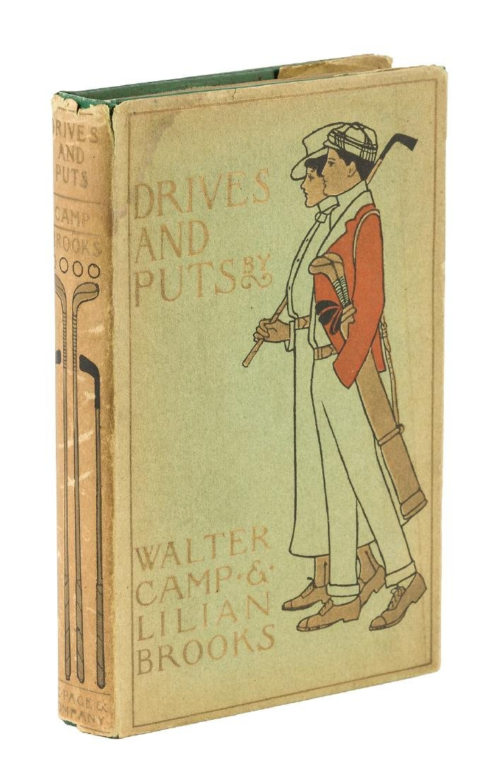 Walter Camp Drives and Puts in rare dust jacket