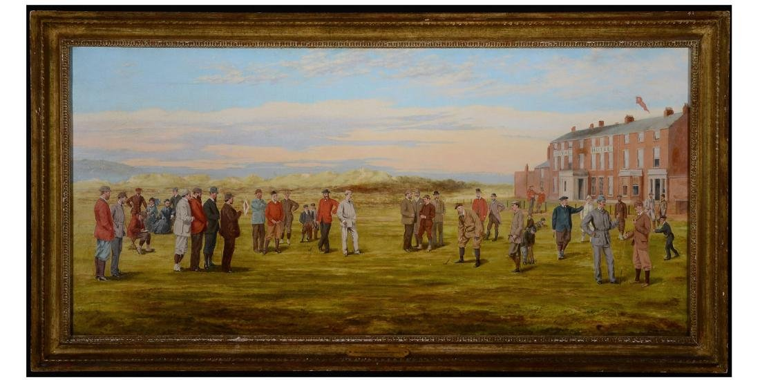 Original Hoylake oil painting by Shortspoon