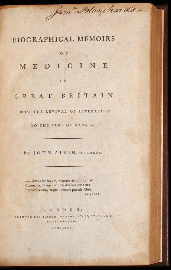 1005: Biographical Memoirs of Medicine in Great Britain