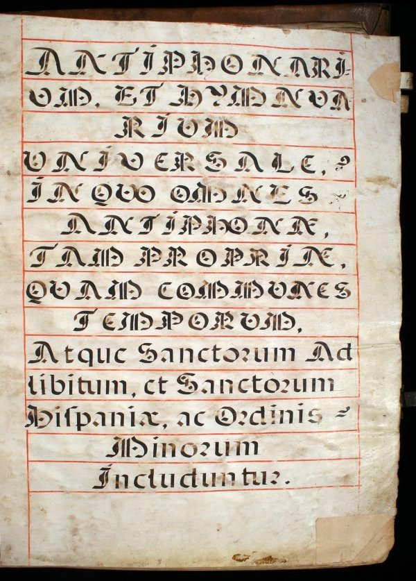 1013: Antiphonarium et Hymnuarium Universale. In Quo Om