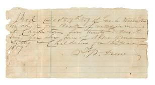 1859 George Washington descendant rents out his slave